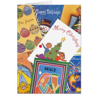 組合せのクリスマスカード カード