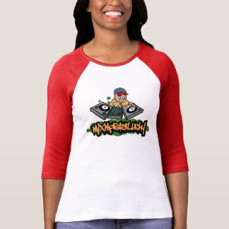 組合せのマスターの幸運な野球のグラフィックのティー Tシャツ