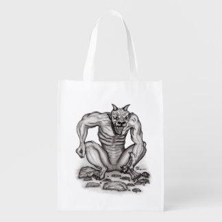 組合せ創造物-トロール、ゴーレムおよび悪魔 エコバッグ