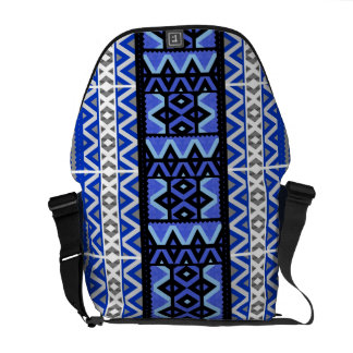 組合せ#191のねじれ-青い種族のデザイン-バッグ クーリエバッグ