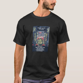 組織的無秩序のカスタムな人の基本的な暗いTシャツ Tシャツ
