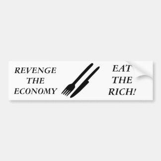 経済に復讐して下さい バンパーステッカー