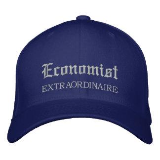 経済学者の非凡な刺繍された帽子 刺繍入りキャップ