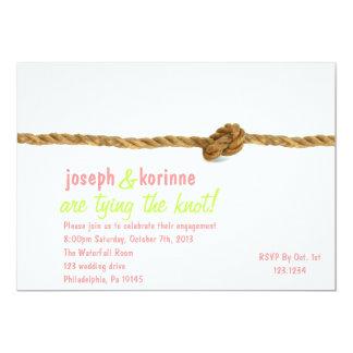 結び目の婚約パーティの招待状を結ぶこと カード