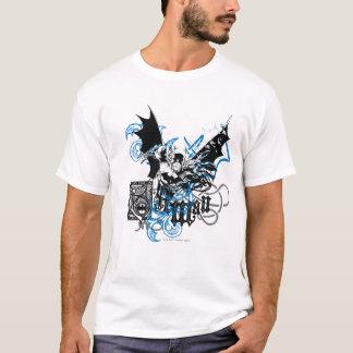 結び糸細工のコラージュを持つバットマン Tシャツ