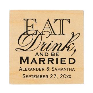 結婚したで名前入りな結婚式が食べ、飲み、そしてあって下さい メープル コースター