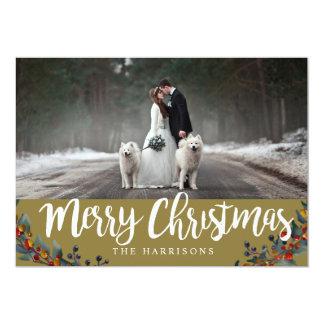 結婚したなクリスマス-カップルのクリスマス-クリスマス日 カード