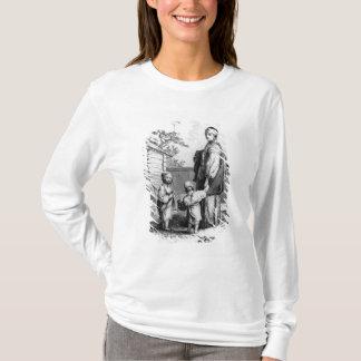 結婚したなユダヤ人の女性および彼女の子供 Tシャツ