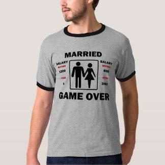 結婚したな場合おもしろいなサラリー Tシャツ