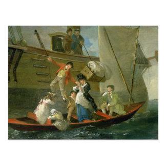 結婚したな船員さようなら、c.1800 (パネルの油) ポストカード
