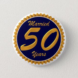 結婚したな50年 5.7CM 丸型バッジ