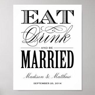 結婚したな|の結婚披露宴の印があって下さい ポスター