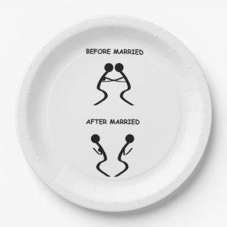 結婚した ペーパープレート