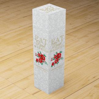 結婚して、飲み物食べ、結婚したが-赤い花あって下さい ワインギフトボックス