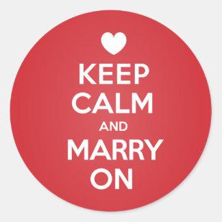 結婚するために平静を保って下さい ラウンドシール