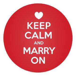 結婚するために平静を救います日付の招待状の円を保って下さい 13.3 スクエアインビテーションカード
