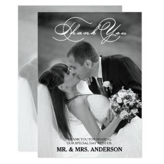 結婚するロマンチックな原稿 は写真カード感謝していしています 12.7 X 17.8 インビテーションカード