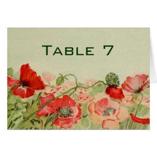 結婚するヴィンテージによっては赤いケシ花草原が開花します カード