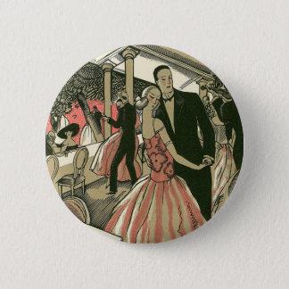 結婚するヴィンテージのアールデコ新婚者は最初に踊ります 5.7CM 丸型バッジ