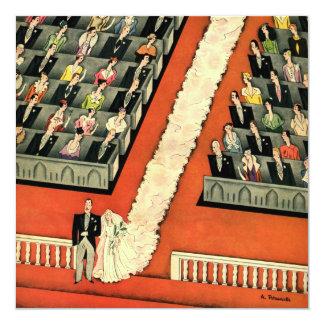 結婚するヴィンテージのアールデコ花嫁の新郎の招待状 13.3 スクエアインビテーションカード