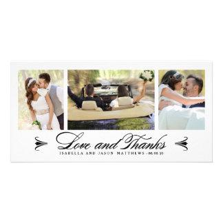 結婚する優雅のコラージュ|は写真カード感謝していしています カード