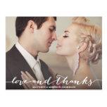 結婚する愛及び感謝の原稿%PIPE%は郵便はがき感謝していしています