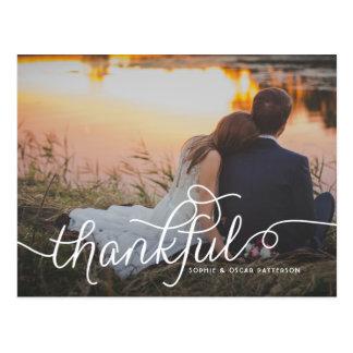 結婚する感謝している美しい原稿|は写真感謝していしています 葉書き