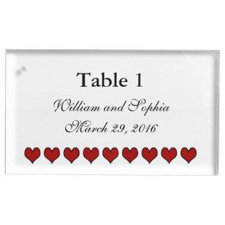 結婚する新郎新婦のギア| テーブルカードホルダー