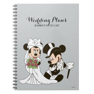結婚する を結婚しているMickey及びMinnie ノートブック