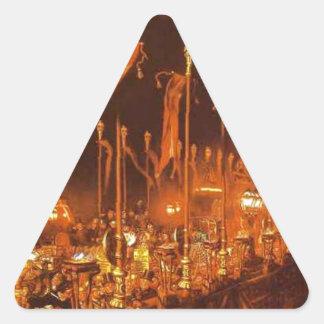 結婚の夜のロンドン橋 三角形シール
