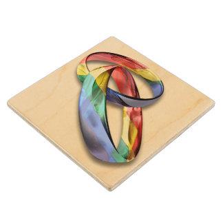 結婚の平等のための虹の結婚指輪 ウッドコースター