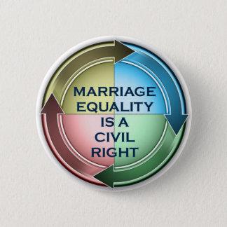 結婚の平等のステッカー 5.7CM 丸型バッジ