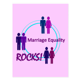結婚の平等の石! ポストカード