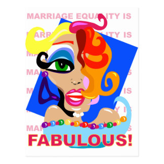 結婚の平等はすばらしいです ポストカード