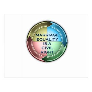結婚の平等 ポストカード