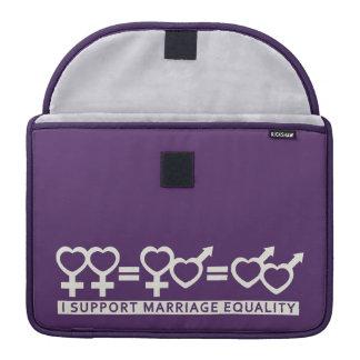 結婚の平等/愛カスタムなMacBookの1本の袖 MacBook Proスリーブ