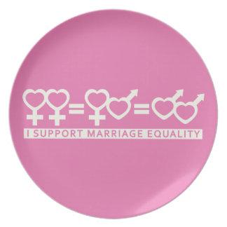 結婚の平等/1つの愛カスタムなプレート プレート