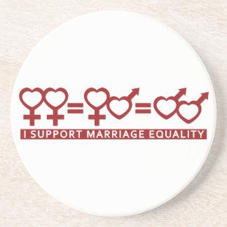 結婚の平等/1つの愛カスタムのコースター コースター
