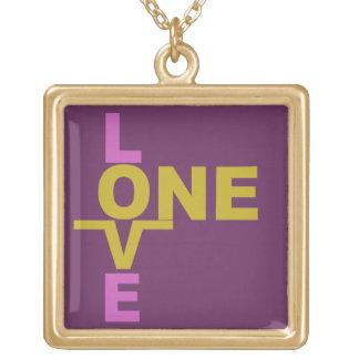 結婚の平等/1つの愛カスタムのネックレス ゴールドプレートネックレス