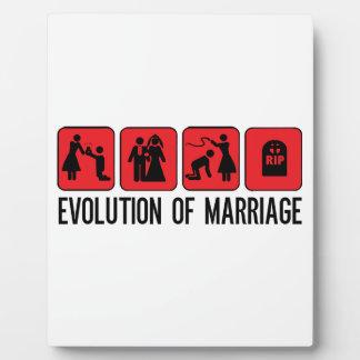 結婚の進化 フォトプラーク