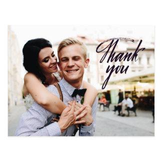 結婚はエレガントな郵便はがきのカスタムな写真感謝していしています ポストカード