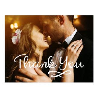 結婚はカスタムな郵便はがきのフォトカード感謝していしています ポストカード