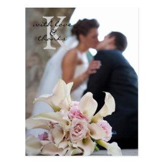 結婚はノートの郵便はがき感謝していしています ポストカード