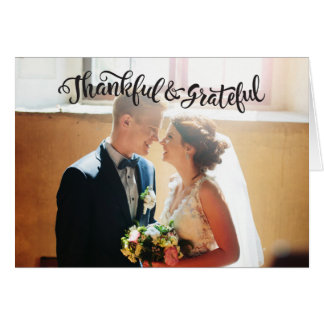 結婚はメッセージカードのフォトカードGraitude感謝していしています カード