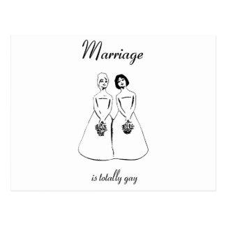 結婚は全く陽気-女性のカップルです ポストカード