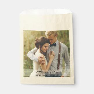 結婚は写真の好意のバッグのベージュ色感謝していしています フェイバーバッグ
