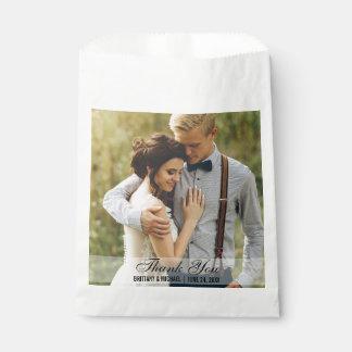 結婚は写真の好意のバッグの白感謝していしています フェイバーバッグ