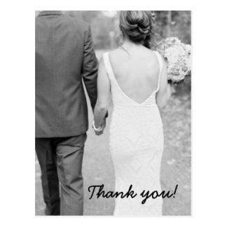 結婚は写真の郵便はがき感謝していしています ポストカード
