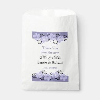 結婚は好意のバッグ-紫色の花感謝していしています フェイバーバッグ
