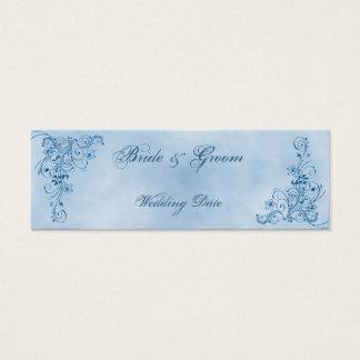 結婚は好意カード感謝していしています: スカイブルーの優雅 スキニー名刺
